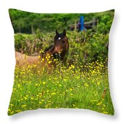 Lost In Buttercups Throw Pillow