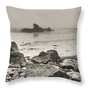 Lost In Fog II Throw Pillow