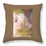 Lost In Music. It Is In The Rain Throw Pillow