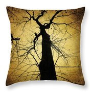 Lost In The Forest I Broke Off A Dark Twig And Lifted Its Whisper To My Thirsty Lips Throw Pillow