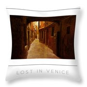 Lost In Venice Poster Throw Pillow