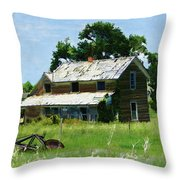 Lost In Wyoming II Throw Pillow