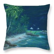 Lost Island Throw Pillow