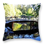 Lost Lagoon Bridge Throw Pillow