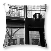 Lost Lake Black And White Throw Pillow