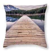 Lost Lake Dock Throw Pillow