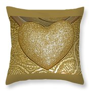 Lost My Golden Heart Throw Pillow