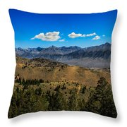 Lost River Mountains Throw Pillow