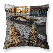Lost Youth Black And White Throw Pillow