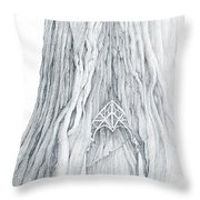 Lothlorien Mallorn Tree Throw Pillow