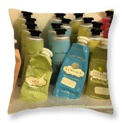Lotions And Potions Throw Pillow