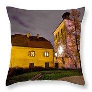 Lotrscak Tower Zagreb Famous Landmark Throw Pillow