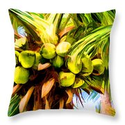 Lots Of Coconuts Throw Pillow