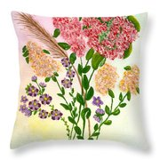 Lots Of Flowers Throw Pillow