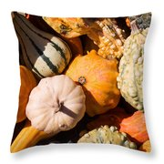 Lots Of Little Gourds Throw Pillow