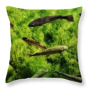Lots Of Trout Throw Pillow