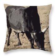 Lotta Bull Throw Pillow