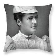 Lottie Dod (1871-1960) Throw Pillow