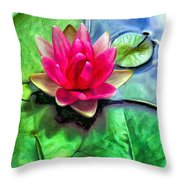 Lotus Blossom And Cloud Reflection Throw Pillow