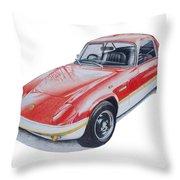 Lotus Elan Sprint Throw Pillow