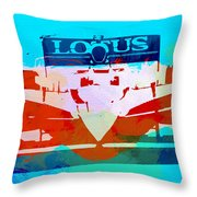 Lotus F1 Racing Throw Pillow by Naxart Studio