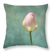 Lotus Flower Bud Throw Pillow