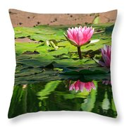 Lotus Flower Reflections Throw Pillow