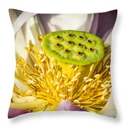 Lotus Heart Throw Pillow