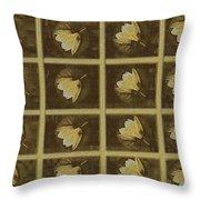 Lotus In 16 Bits Throw Pillow