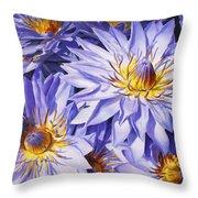 Lotus Light - Hawaiian Tropical Floral Throw Pillow