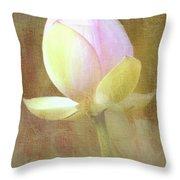 Lotus Looking To Bloom Throw Pillow