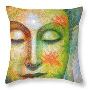 Lotus Meditation Buddha Throw Pillow
