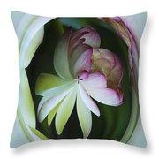Lotus Mirror Throw Pillow