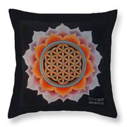 Lotus Of Life Throw Pillow