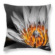 Lotus On Fire Throw Pillow