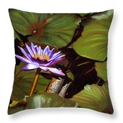 Lotus One Throw Pillow
