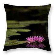 Lotus Reflections Throw Pillow