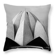 Lotus Temple - New Delhi - India Throw Pillow