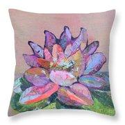 Lotus V Throw Pillow