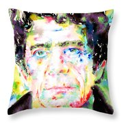 Lou Reed Watercolor Portrait.1 Throw Pillow