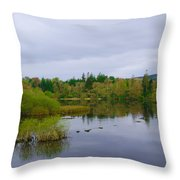 Lough Eske In The Morning Throw Pillow