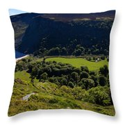 Lough Tay Below Luggala Mountain Throw Pillow