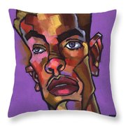 Louie After His Shower Throw Pillow by Douglas Simonson