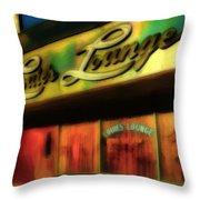 Louie's Lounge Throw Pillow