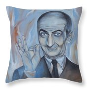 Louis De Funes Throw Pillow