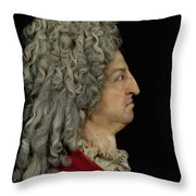 Louis Xiv 1638-1715 1706 Mixed Media Throw Pillow