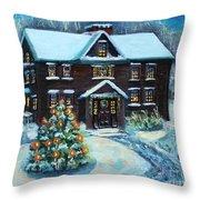 Louisa May Alcott's Christmas Throw Pillow