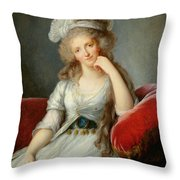 Louise-marie Adelaide, Duchesse Dorleans Oil On Canvas See Also 91622 Throw Pillow