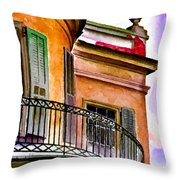 Louisiana Bank Building New Orleans Throw Pillow