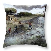 Louisiana Broken Levee Throw Pillow
